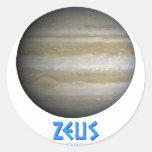 Zeus - Júpiter - dios de viejo Pegatinas Redondas