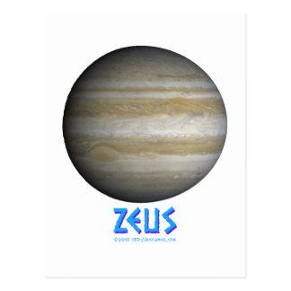 Zeus - Júpiter - dios de viejo Tarjeta Postal