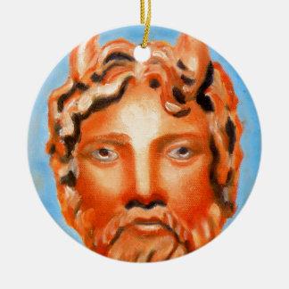 Zeus  - Jupiter Double-Sided Ceramic Round Christmas Ornament