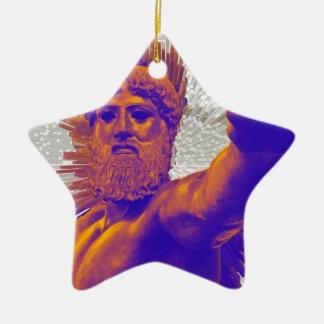 Zeus  - Jupiter Double-Sided Star Ceramic Christmas Ornament