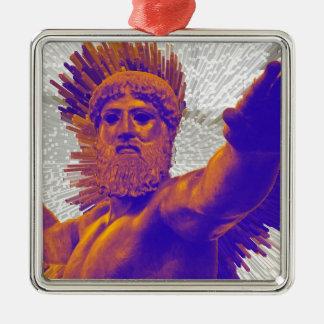 Zeus  - Jupiter Square Metal Christmas Ornament