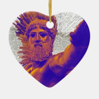 Zeus  - Jupiter Double-Sided Heart Ceramic Christmas Ornament