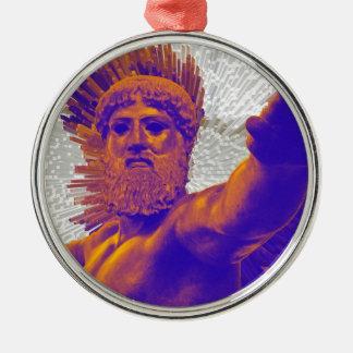 Zeus  - Jupiter Round Metal Christmas Ornament