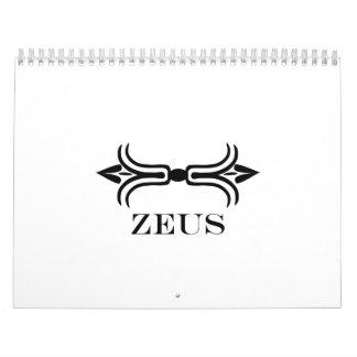 Zeus lightning bolt (Engravers Font) Wall Calendar