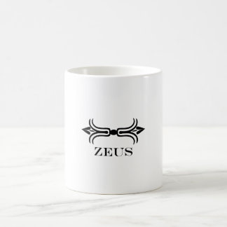 Zeus lightning bolt (Engravers Font) Coffee Mug
