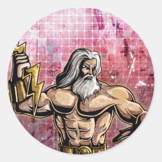 Zeus Pegatina Redonda