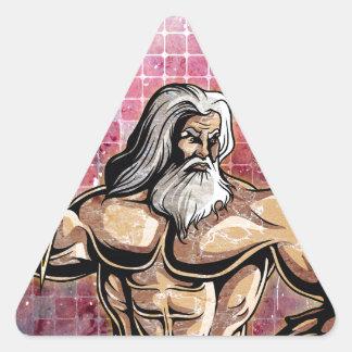 Zeus Pegatina Triangular