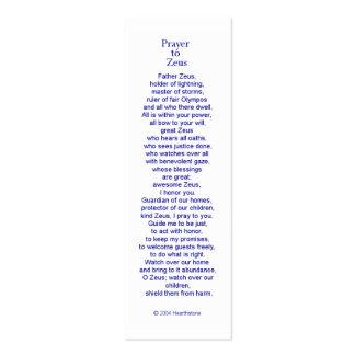 Zeus Prayer Card Mini Business Card