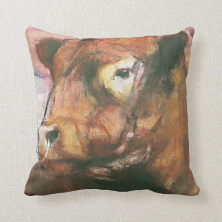 Zeus Red Belted Galloway Bull 2006  2 Throw Pillow