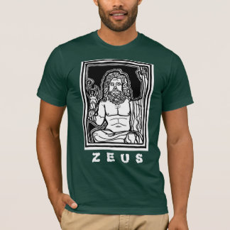 Zeus tee by AncientAgesPrints
