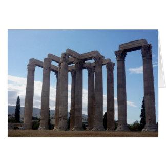 zeus temple columns card