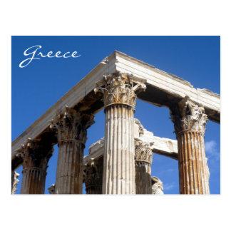 zeus temple greece postcard