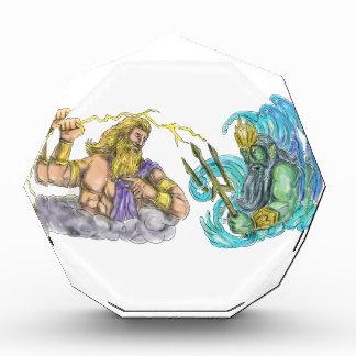 Zeus Thunderbolt Vs Poseidon Trident Tattoo Award