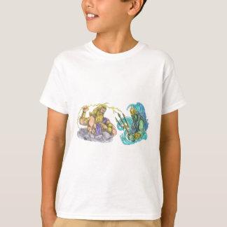 Zeus Thunderbolt Vs Poseidon Trident Tattoo T-Shirt