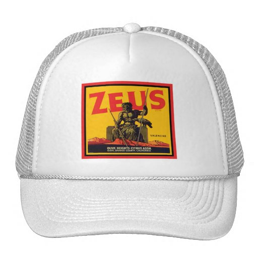 Zeus Vintage Crate Label - Olive Hts Citrus Assn. Trucker Hat