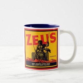 Zeus Vintage Crate Label - Olive Hts Citrus Assn Mugs