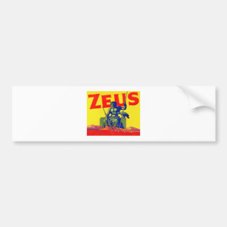Zeus - Vintage Poster Design Bumper Sticker