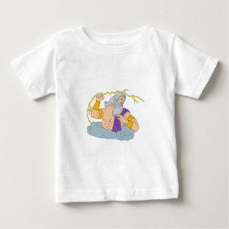 Zeus Wielding Thunderbolt Lightning Drawing Baby T-Shirt