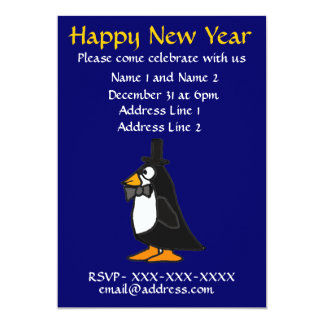 ZF- New Year's Eve Party Invitation Penguin