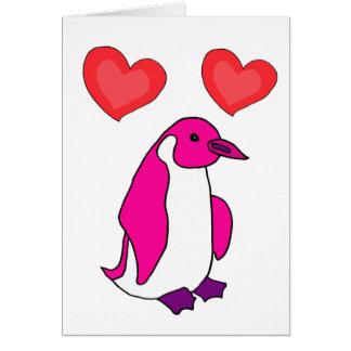 ZG- Pink Penguin Valentine's Day Card
