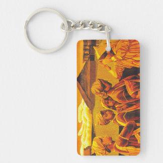 Zhang Xiaochun Dialog In The Dusk chinese art Double-Sided Rectangular Acrylic Keychain
