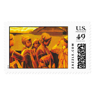 Zhang Xiaochun Dialog In The Dusk chinese art Stamp