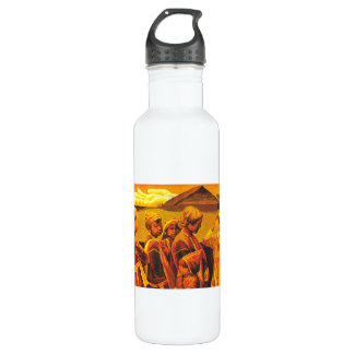 Zhang Xiaochun Dialog In The Dusk chinese art Stainless Steel Water Bottle