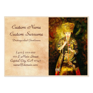 Zhangbo Hmong Culture Girl is Piping chinese lady Large Business Cards (Pack Of 100)