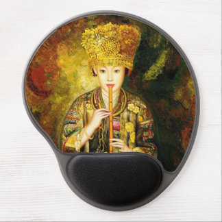 Zhangbo Hmong Culture Girl is Piping chinese lady Gel Mouse Pad