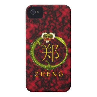 Zheng Monogram Dragon iPhone 4 Case-Mate Cases