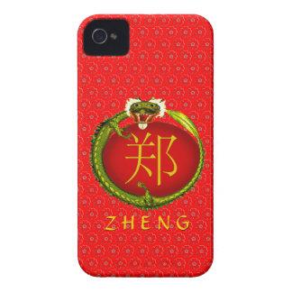 Zheng Monogram Dragon iPhone 4 Cover