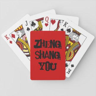Zheng Shang usted naipes de papel de tarjetas