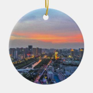 Zhengzhou, China Adorno Navideño Redondo De Cerámica