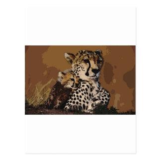 Zhivotnye del savana de Gepardy Postales