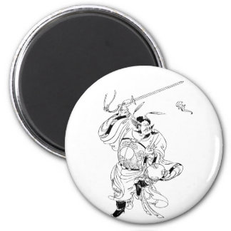 Zhong Kui, The Ghost Master 2 Inch Round Magnet