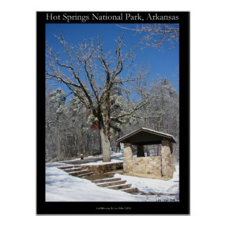 zHot Springs National Park, Ice Snow Hut Poster