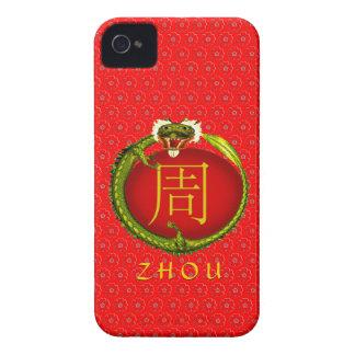 Zhou Monogram Dragon iPhone 4 Cases