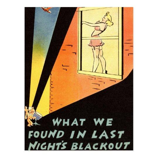 ZHR0023 1942 Last Night's Blackout Postcard