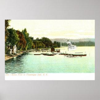 ZHR0031 1905 Vintage Bemus Point, Chautaqua Lake, Poster