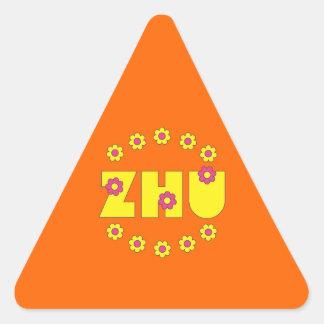 Zhu in Flores Yellow Triangle Sticker