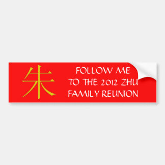 Zhu Monogram Bumper Sticker