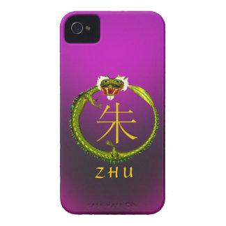Zhu Monogram Dragon iPhone 4 Case-Mate Case