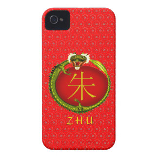 Zhu Monogram Dragon iPhone 4 Case-Mate Cases