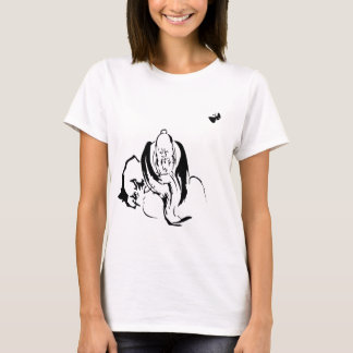 Zhuangzi and the Butterfly (Black on White) T-Shirt