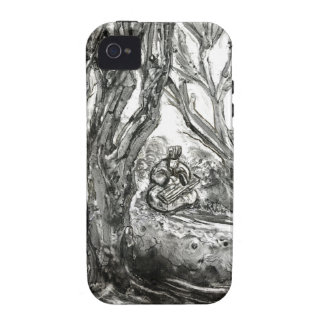 Zhuge Liang Plays the Qin Chinese Landscape Case iPhone 4 Case