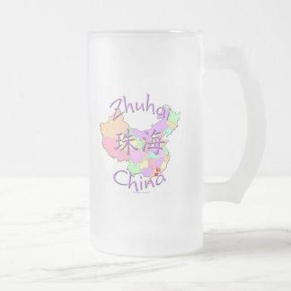 Zhuhai China Frosted Glass Beer Mug