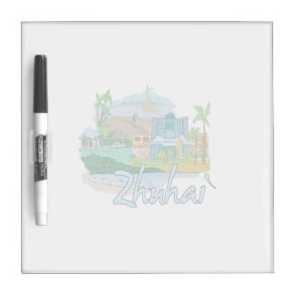 zhuhai city vacation graphic blue.png dry erase whiteboard