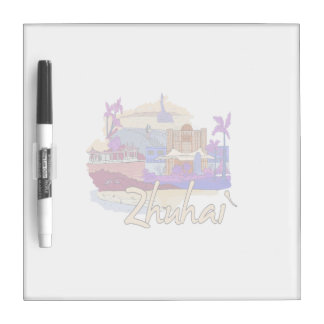 zhuhai city vacation graphic peach.png dry erase whiteboard