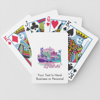zhuhai city vacation graphic pink.png bicycle playing cards