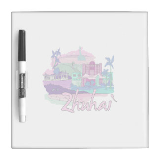 zhuhai city vacation graphic pink.png Dry-Erase whiteboard